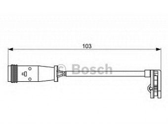 Тормозные колодки 1987473037 Bosch