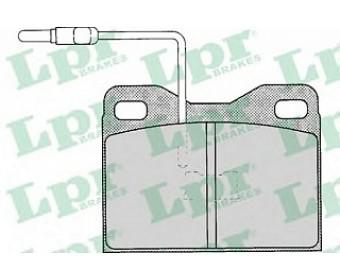 Передние тормозные колодки 05p121 LPR