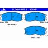 Ate Передние тормозные колодки 13046059522 Ate с звуковым предупреждением износа