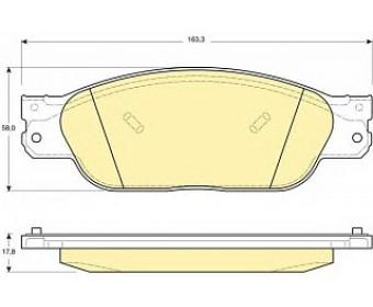 Тормозные колодки 6114019 Girling не подготовленно для датчика износа