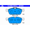 Ate Тормозные колодки 13046072832 Ate подготовлено для датчика износа колодок, без датчика износа