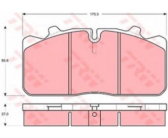 Тормозные колодки gdb5069 TRW подготовлено для датчика износа колодок