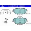 Ate Передние тормозные колодки 13047027102 Ate подготовлено для датчика износа колодок, без датчика износа